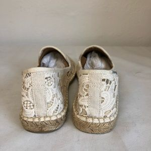 Soludos Shoes - Soludos Ivory Tulip Lace Smoking Slipper Espadrill